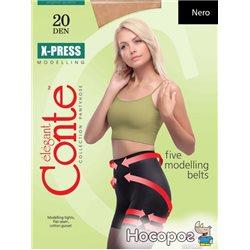 Колготки Conte X-press 20 Den 2 р Nero -4810226007648