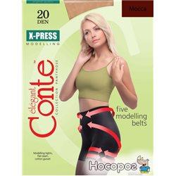 Колготки Conte X-press 20 Den 2 р Mocca -4810226007709