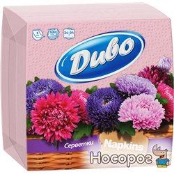 Салфетки бумажные Диво однослойные 24х24 см 100 шт Розовые (4820003831694)