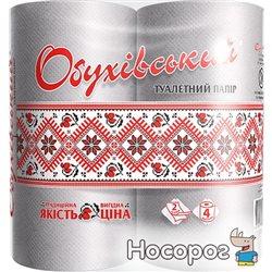 Туалетная бумага Обуховская 130 отрывов 2 слоя 4 рулона Серая (4820003833803)