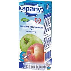 Сок Карапуз яблочно-персиковый с мякотью без сахара 200 мл (4820012000456)
