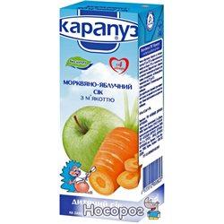 Сок Карапуз морковно-яблочный без сахара 200 мл (4820012000623)
