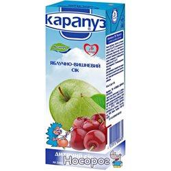Сок Карапуз яблочно-вишневый без сахара 200 мл (4820012000630)