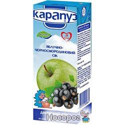 Сок Карапуз яблочно-черносмородиновый без сахара 200 мл (4820012000661)
