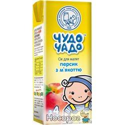 Сок Чудо-Чадо Персиковый с мякотью, сахаром и витамином С 0.2 л (4820016251687)