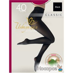 Intuicia Класичний колготки 40 Den 4 р Black (4820023712317)