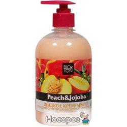 Жидкое крем-мыло Bioton Cosmetics Персик и Жожоба с глицерином и увлажняющим молочком 500 мл (4820026144436)