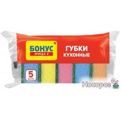 Губка кухонная Бонус 5+1 шт (4820048483933)