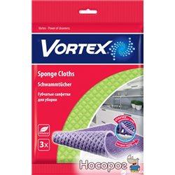 Салфетки-губки Vortex для уборки 3 шт (4820048488082)