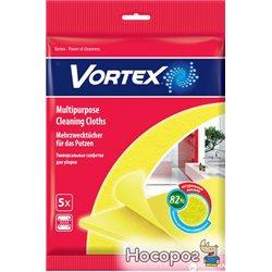 Салфетки Vortex для сухой и влажной уборки вискозные 5 шт (4820048488112)
