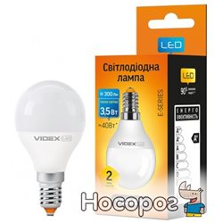 Светодиодная лампа VIDEX E-series G45e 3.5W E14 3000K 220V (VL-G45e-35143)