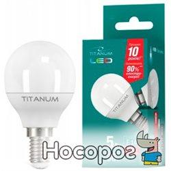 Светодиодная лампа TITANUM G45 5W E14 4100K 220V (TLG4505144)