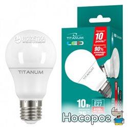 Светодиодная лампа LED Titanum A60 10W E27 4100K 220V (TLA6010274)