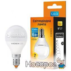 Светодиодная лампа VIDEX E-Series G45e 6W E14 4100K 220V (VL-G45e-06144)