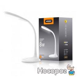 Настольная светодиодная лампа Videx 8W 3000-5500K USB 5V1A 100-240V с регулировкой яркости (VL-TF03W) (4820118295497)