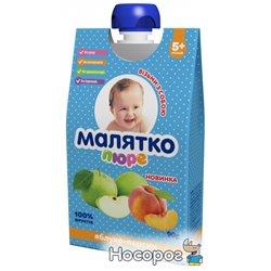 Пюре Малятко Яблоко-персик 90 г (4820123511360)