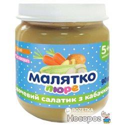 Пюре Малятко Овочевий салатик з кабачком від 5 місяців 90 г (4820123511445)
