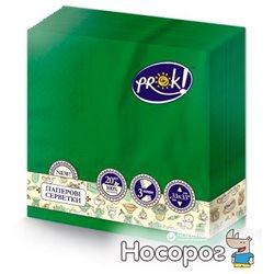 Серветки PrOK тришарові 20 шт Смарагдові (482