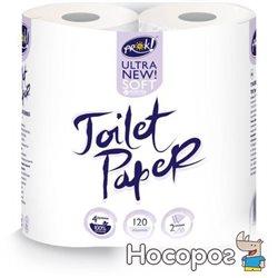 Туалетная бумага PrOK двухслойная 4 шт Белая (4820159844531)
