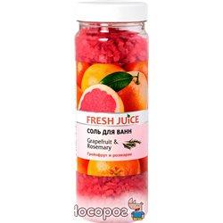 Соль для ванн Fresh Juice Grapefruit&Rosemary 700 г (4823015921582)