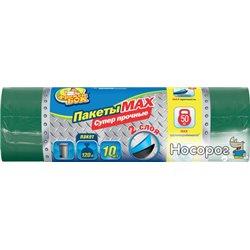 Пакеты для мусора Фрекен БОК MAX многослойные 120 л 10 шт Зеленые (16409300_4823071605310)