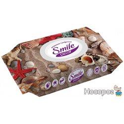 Вологі серветки Smile Decor з клапаном seashells 60 шт (4823071626537_42502702)
