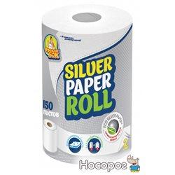 Бумажные полотенца Фрекен БОК Silver кухонные двухслойные с центральным извлечением 150 отрывов (4823071626940)