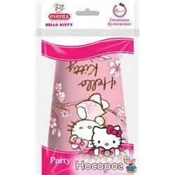 Склянки Eventa Hello Kitty паперові 250 мл 6 шт Рожеві (38220404_4823071628098)