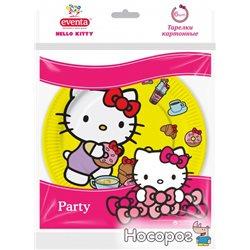 Тарілки Eventa паперові жовті Hello Kitty 18 см 6 шт (38222002_4823071628104)