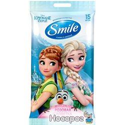 Влажные салфетки Smile Frozen Elza & Anna 15 шт (4823071630800_42109401)