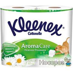Туалетная бумага Kleenex Cottonelle Aroma Care Ромашка 140 отрывов 3 слоя 4 рулона (5029053541600)