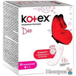 Щоденні гігієнічні прокладки Кotex Део Ультра Тонкі 20 шт (5029053542768)