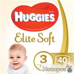 Подгузники Huggies Elite Soft&nbspJumbo 3 5-9 кг 40 шт (5029053547770)