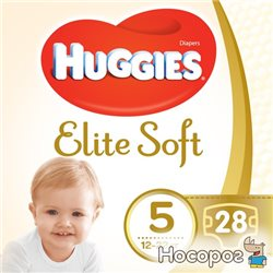 Подгузники Huggies Elite Soft Jumbo 5 12-22 кг 28 шт (5029053547794)