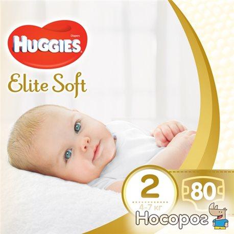 Фото Подгузники Huggies Elite Soft 2 Mega 80 шт (5029053564920)
