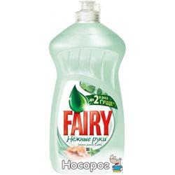 Жидкое средство для мытья посуды Fairy Нежные руки Чайное дерево и Мята 500 мл (5413149395237)
