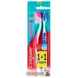 Набор зубных щеток Colgate 1+1 Massager средней жесткости (5900273113405)