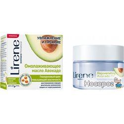 Гиалуроновый крем для повышения еластичности кожи Lirene Увлажнение и Питание Авокадо и Альга 50 мл (5900717079151)