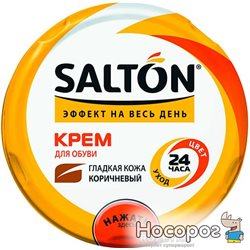 Крем Salton для взуття із гладкої шкіри в банку 50 мл Коричневий (6928305900112)