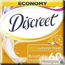 Ежедневные гигиенические прокладки Discreet Summer Fresh 60 шт (4015400341598_8001090162236)