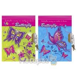 Блокнот детский на замке Butterfly 6027
