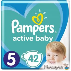 Подгузники Pampers Active Baby Размер 5 (11-16 кг) 42 шт (8001090950178)
