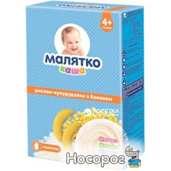Молочна каша Малятко Рисово-кукурудзяна з бананом 200 г (8606107543543)