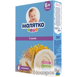 Молочна каша Малятко 5 злаків 200 г (8606107543666)