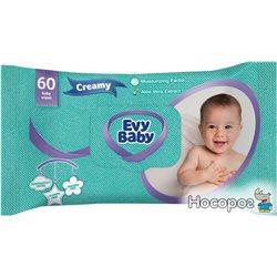 Детские влажные салфетки Evy Baby Creamy 60 шт (EB1WW001) (8690506404543)