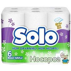 Бумажные полотенца Solo 2 слоя 100 отрывов 6 рулонов (8690530255067)