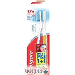 Набор зубных щеток Colgate 1+1 Шелковые нити мягкая (8693495037853)