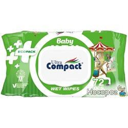 Детские влажные салфетки Ultra Compact Ecopack 72 шт с клапаном (8697420534714)