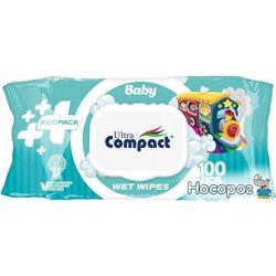 Детские влажные салфетки Ultra Compact Ecopack 100 шт с клапаном (8697420534721)