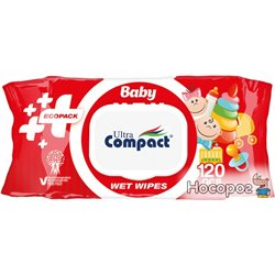Детские влажные салфетки Ultra Compact Ecopack 120 шт с клапаном (8697420534738)